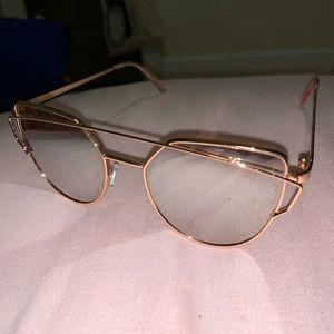 Nordstrom rose gold sunglasses